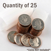 Protective Coin Tube - Quarter - Qty 25