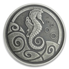 2019 Samoa Seahorse - 1 oz Silver Antique Finish